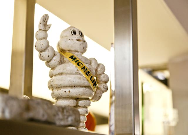 Michelin man figurine from restaurant Lima
