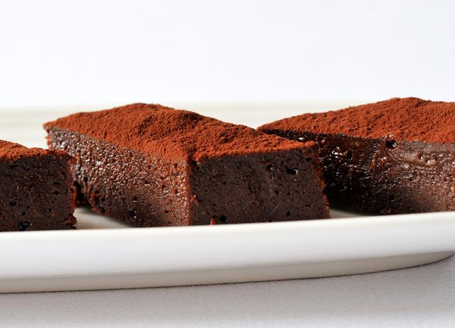 Chocolate, fudge and Cornish sea salt brownies recipe