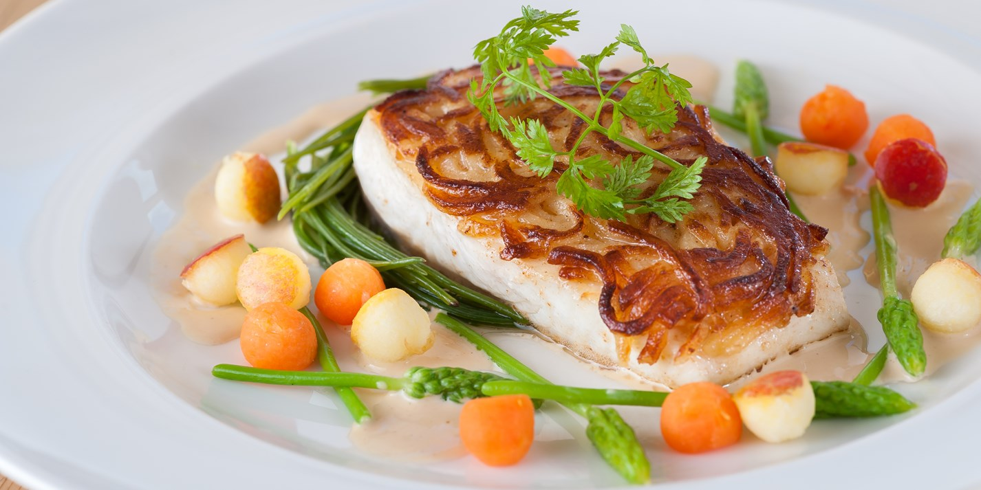 Potato-Crusted Halibut Recpe - Great British Chefs