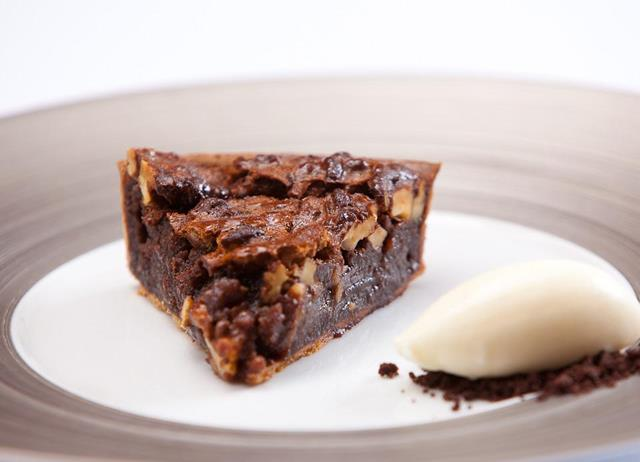 ... pecan and chocolate tart with bourbon whipped creme fraiche recipes