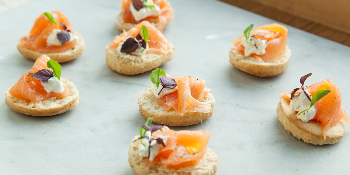 Smoked salmon canap recipe great british chefs for Smoked oyster canape