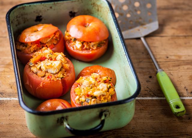 Turkey stuffed tomatoes
