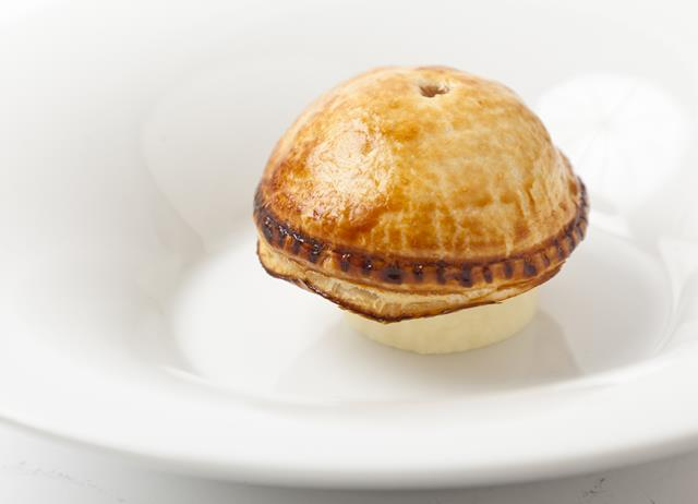 English quail and truffle pie with buttered kohlrabi