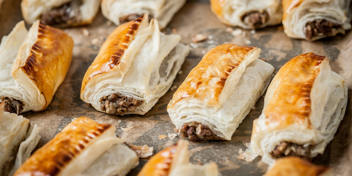 Turkey and stuffing sausage rolls