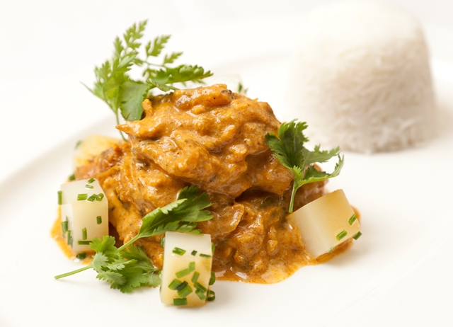 Sweet potato and chicken curry