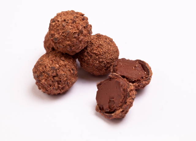 Cedarwood and cassia-bark truffles