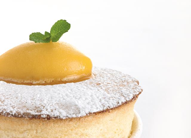 Hot passion fruit soufflé