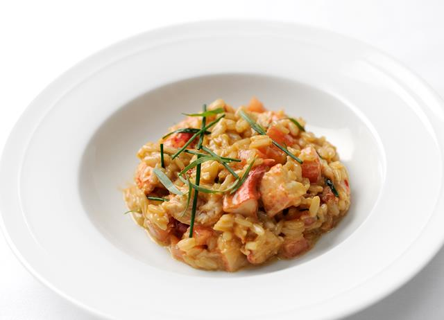 Native lobster risotto with tarragon and chives