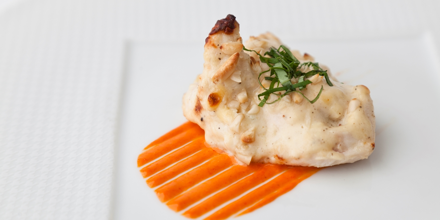 Chicken Recipe With Basil, Pine Nuts, Mayonnaise - Great British Chefs