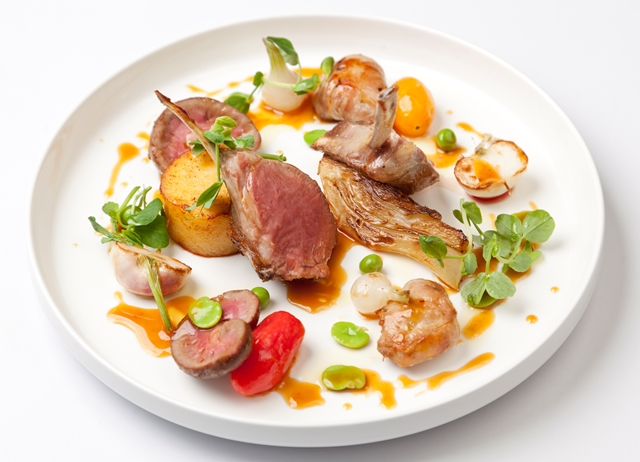 Rack of Welsh Lamb with summer vegetables