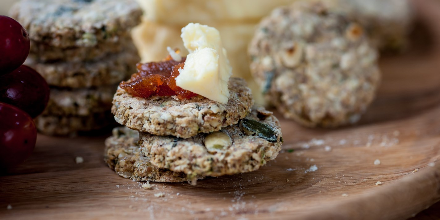 Pumpkin seed and thyme oatcakes