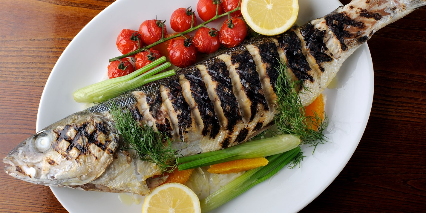 Grilled sea bass recipe with fennel dill great british for Bbq fish grill