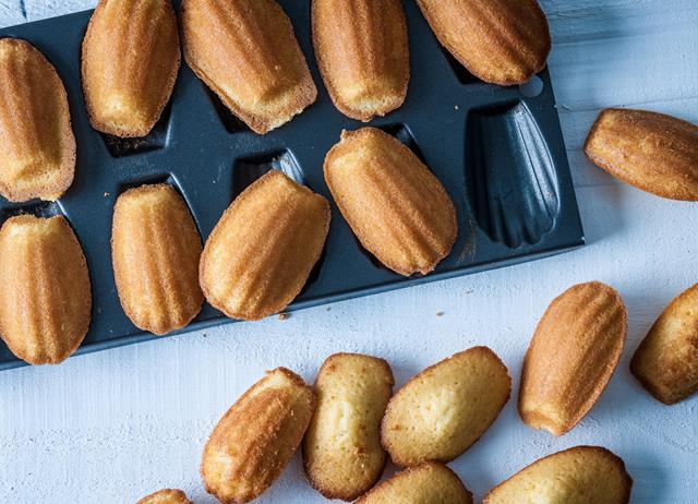 Honey-baked madeleines