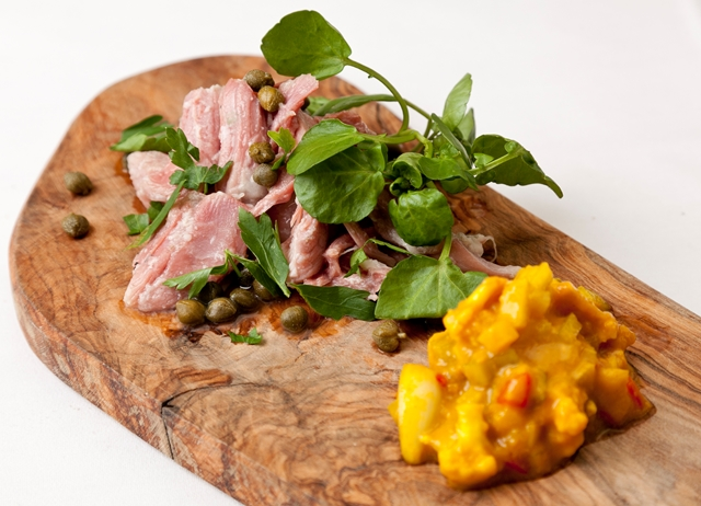 Ham hock terrine with piccalilli