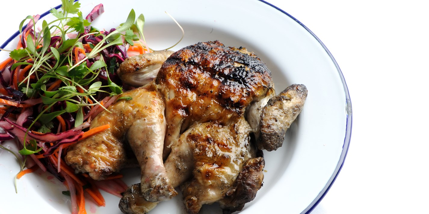 Barbecued Chicken Recipe With Coleslaw - Great British Chefs