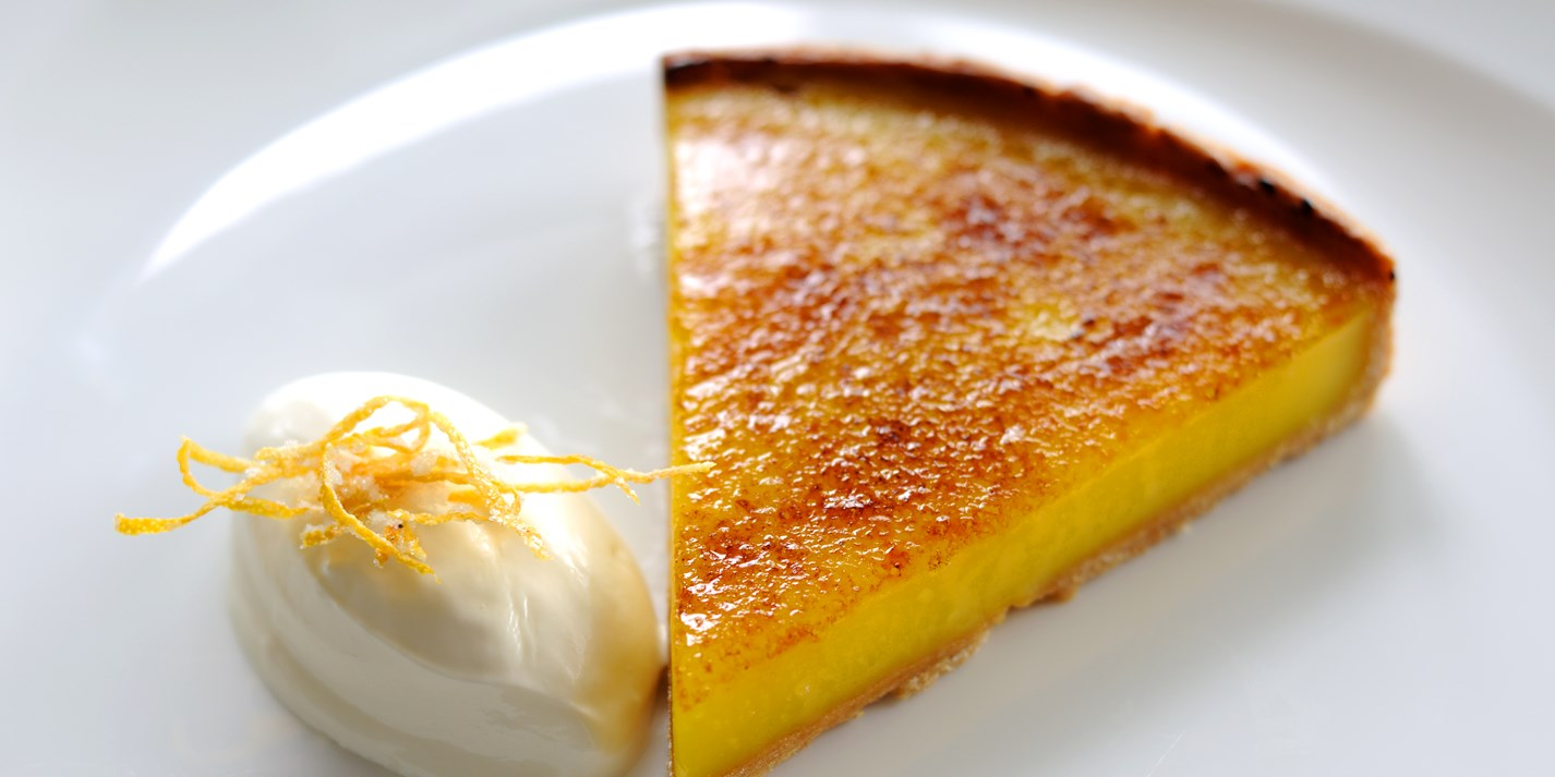 Glazed Lemon Tart Recipe With Crème Fraiche - Great ...