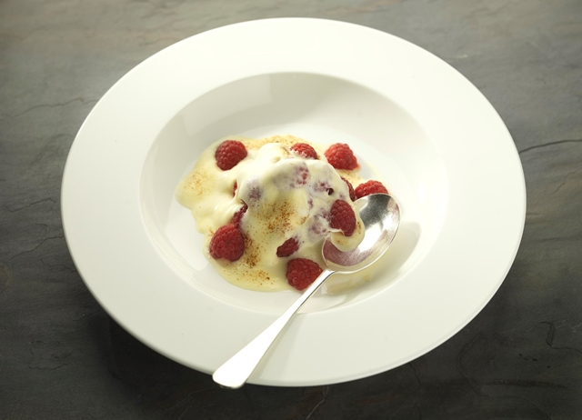 Gratin of Scottish raspberries