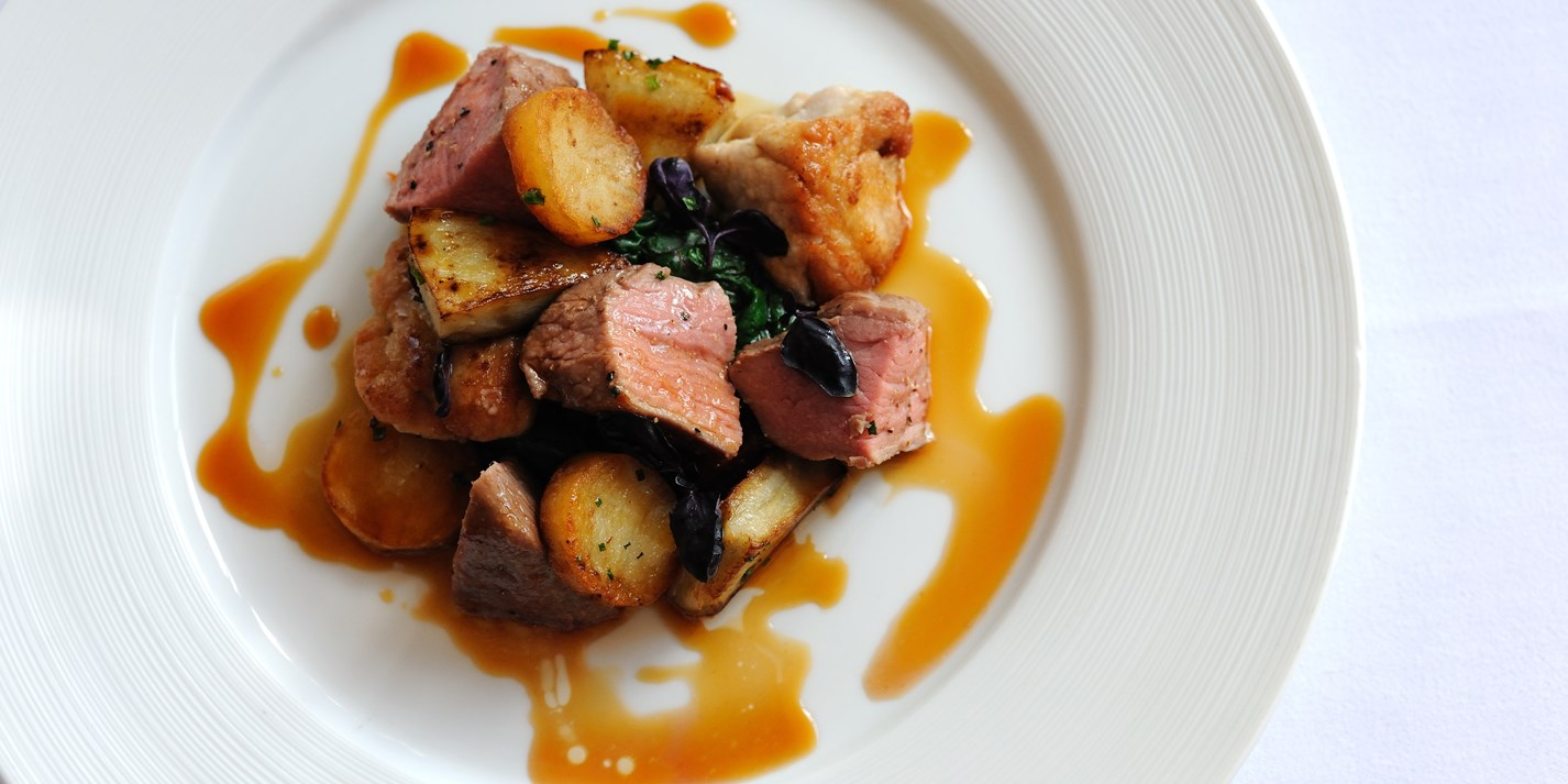 Rosé Veal Recipe with Sweetbreads and Potatoes - Great British Chefs