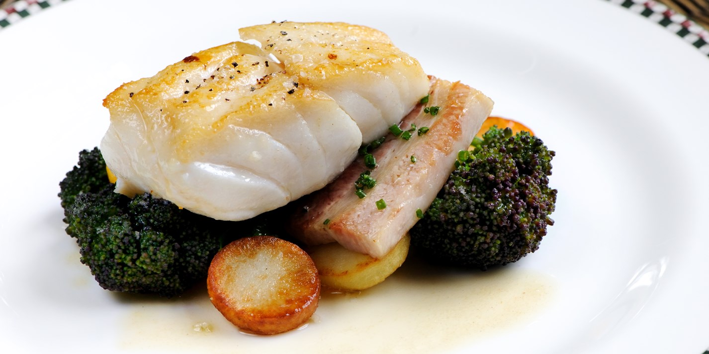 Cod Fillet And Pork Belly Recipe Great British Chefs