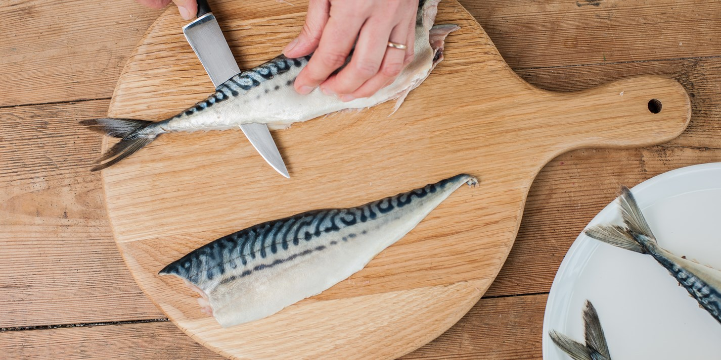 How to fillet a mackerel great british chefs for How to cook mackerel fish