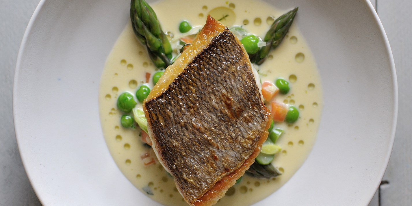 Bream recipe with mustard tarragon sauce great british for Cooking white fish