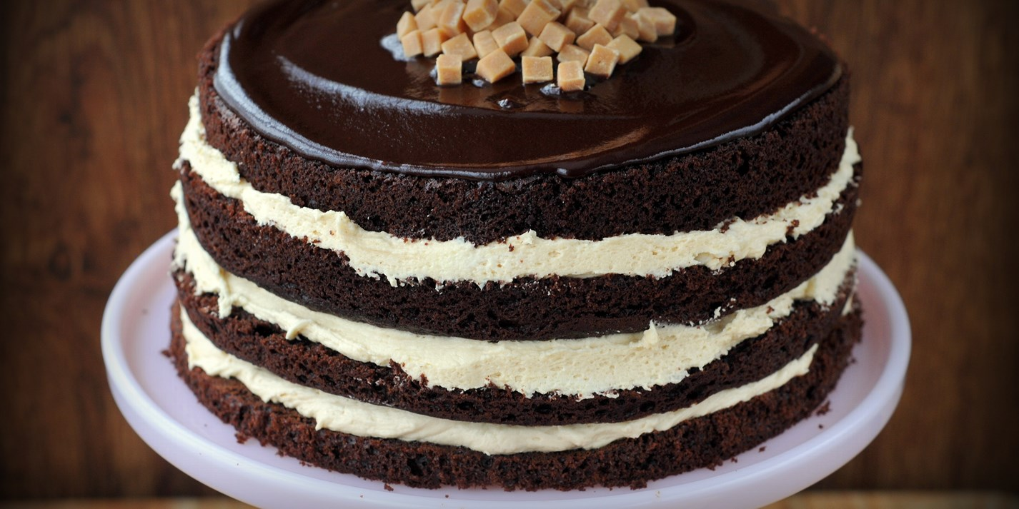 Salted Caramel Layer Cake Recipe