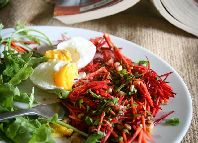 Beetroot and carrot coleslaw