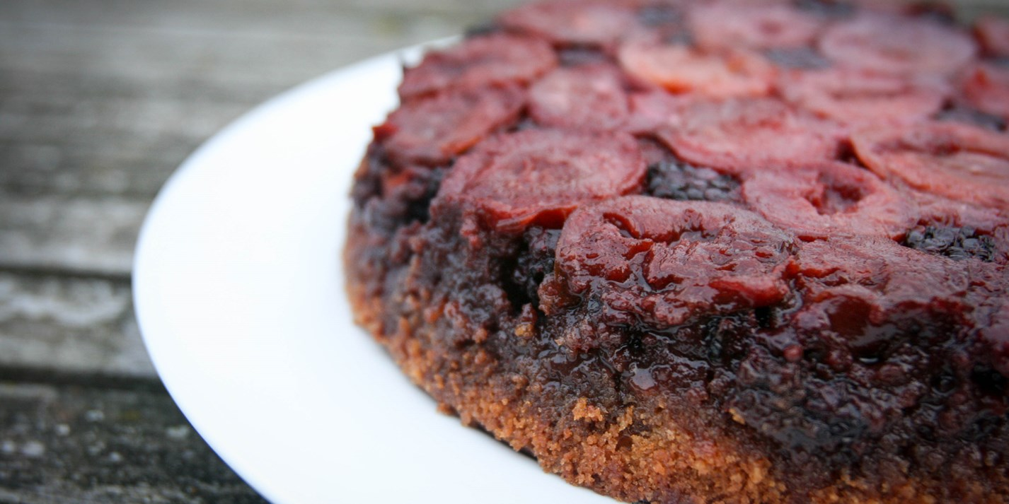 Plum upside-down cake recipe - Great British Chefs