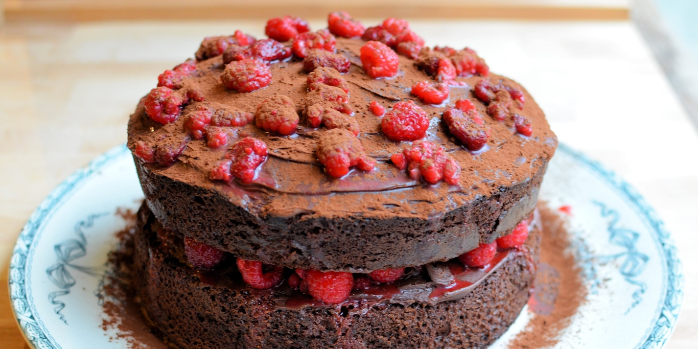 Chocolate raspberry gateau - Great British Chefs