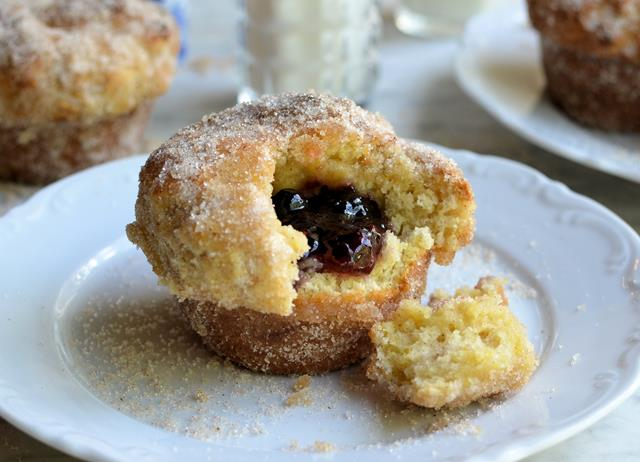 Lower calorie baked jam doughnuts