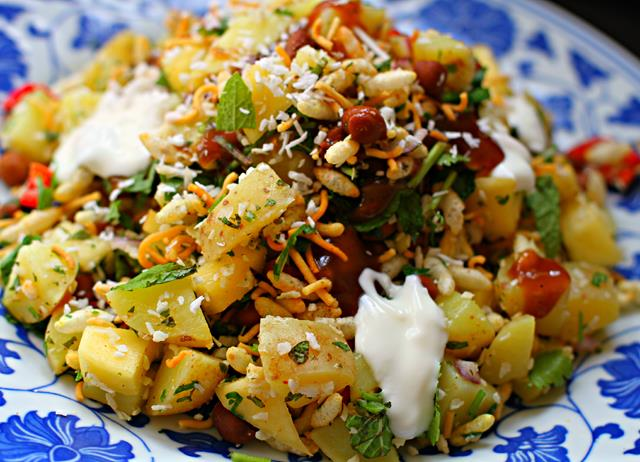 Indo-Thai mango and coconut bhel
