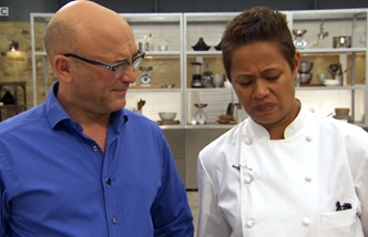 Monica Galetti disgusted face