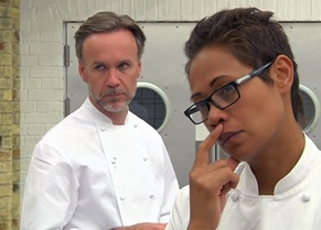 Marcus Wareing and Monica Galetti