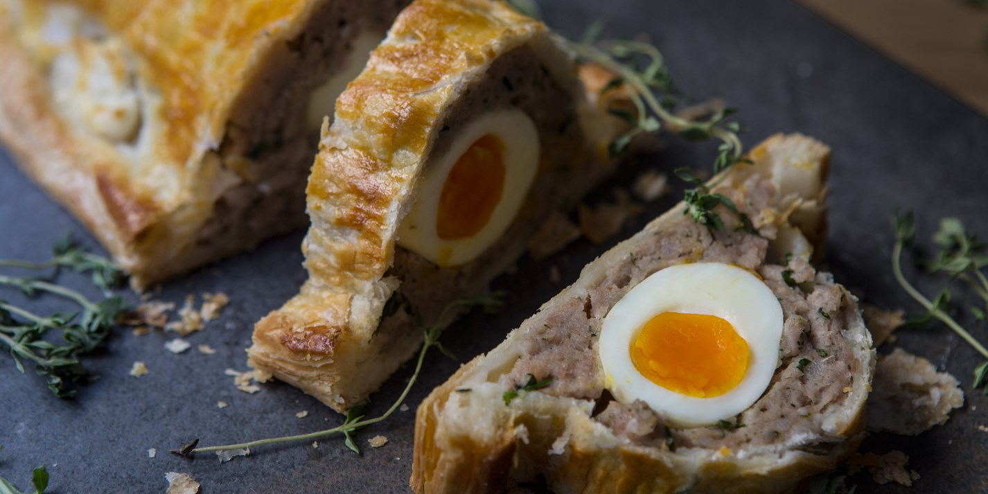 Sausage and egg picnic pie