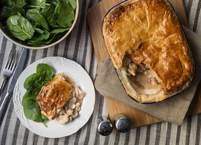 Chicken, bacon and mushroom pie recipe - Great British Chefs