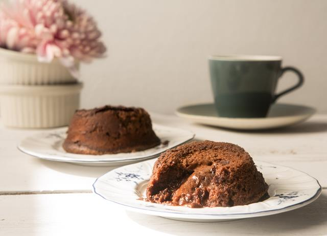 Gluten-free chocolate fondants