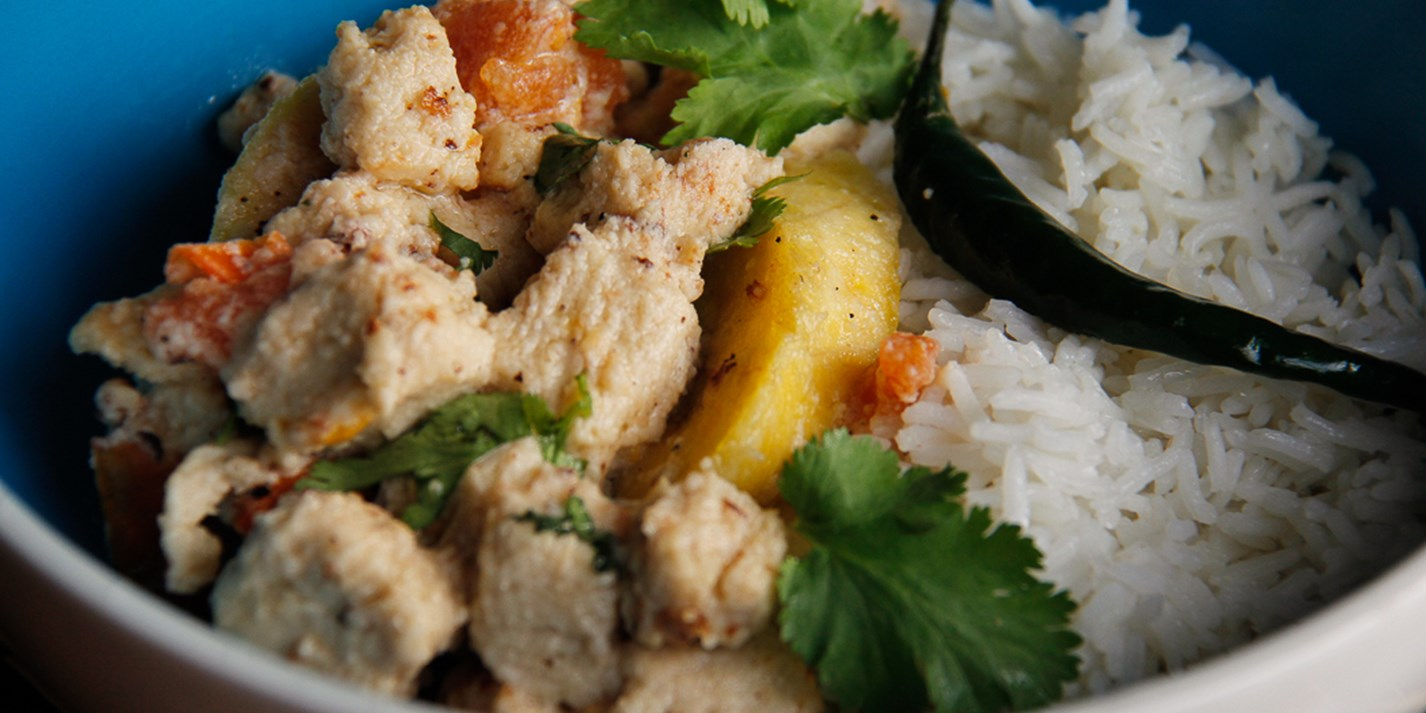 Quorn chicken, coconut and plantain stew recipe - Great British Chefs