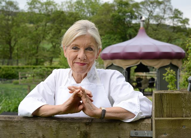 Image of chef Frances Atkins in her kitchen garden