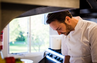 Chef Jason Atherton in the kitchen