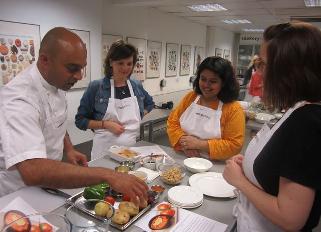 Alfred Prasad at Great British Chefs Cook School