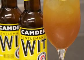Italian Hop cocktail, made with Camden Wit