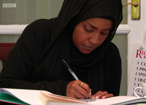 Let's hope Nadiya isn't basing her signature bake on the recipe behind her