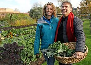 Raymond Blanc with Kate Humble for BBC2's Kew on a Plate