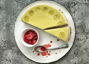Raymond's Gooseberry cheesecake