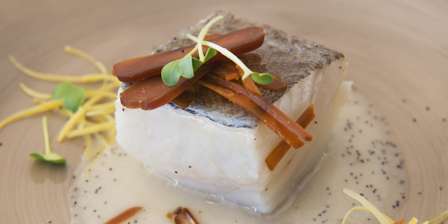 Confit Cod Recipe with Onion Sauce - Great Italian Chefs