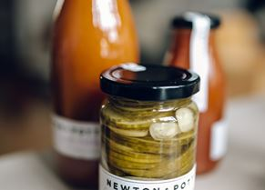 Newton and Pott pickles and preserves (photo courtesy of Hung Quach)