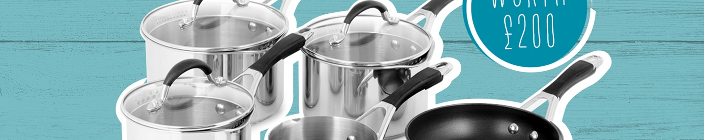 Win a 5-piece Prestige Inspire pan set plus Fish is the Dish goodies worth  £200