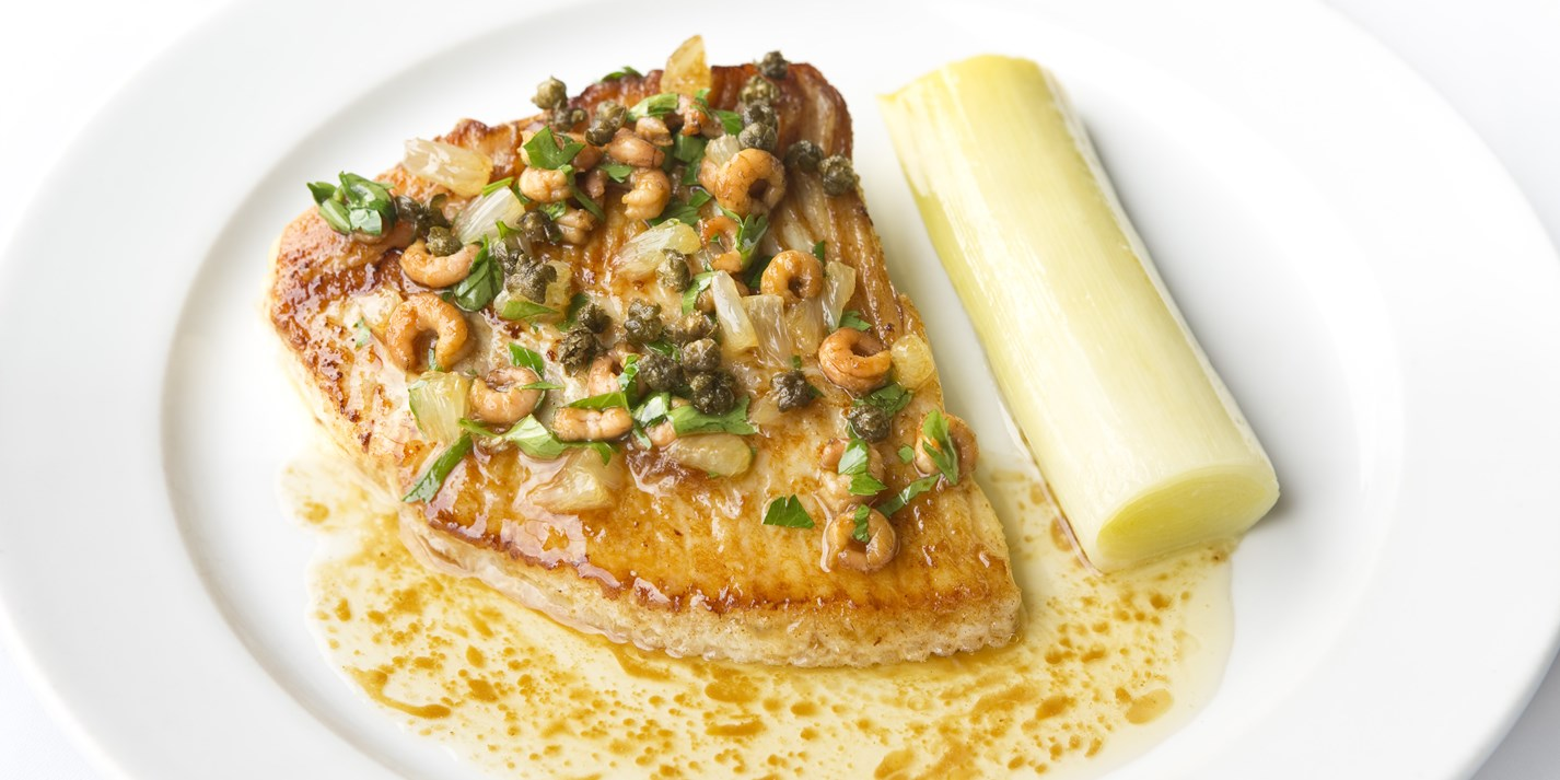 Skate Wings with Braised Leeks Recipe - Great British Chefs
