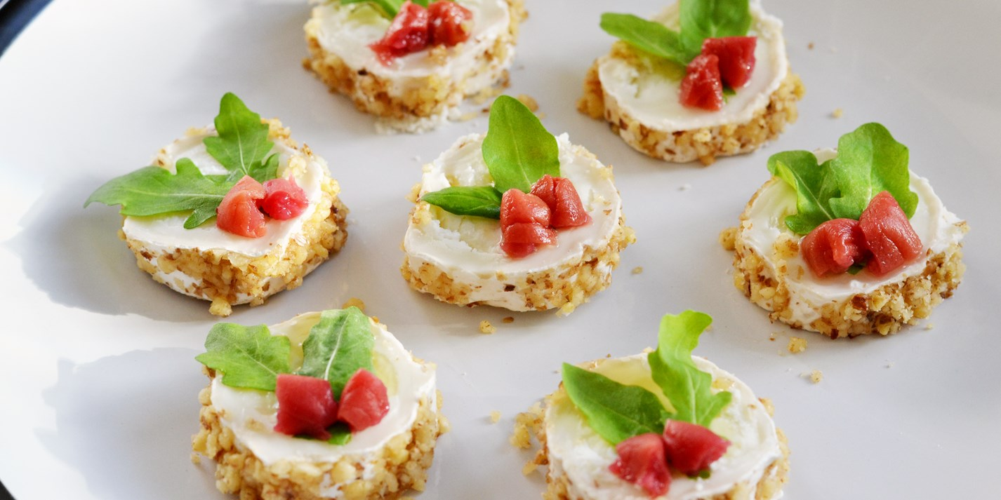 Goats cheese canape recipes 28 images fig and goat for Cheese canape ideas