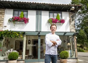 Nacho Manzano outside his two Michelin-starred flagship restaurant Casa Marcial